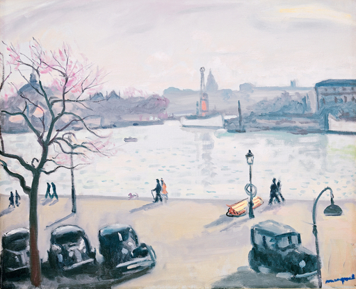 Albert MARQUET - Painting - Quatre autos