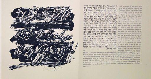 Günther UECKER - Print-Multiple - Buch Hiob
