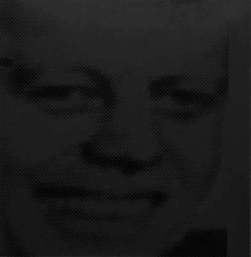 安迪·沃霍尔 - 版画 - JFK (Black)