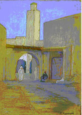 "Pavel Varfolomeevich KUZNETSOV - Drawing-Watercolor - ""Buchara"""