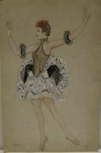 Nathalie GONTCHAROVA - Dessin-Aquarelle - Etude de costume de scène