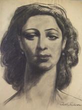 Michel ADLEN - Disegno Acquarello - Portrait of a Woman