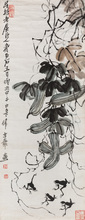 QI Baishi - Drawing-Watercolor - Squash and Frogs