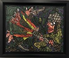 Robert COMBAS - Pintura - Tirage plein la face