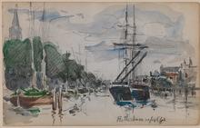 Johan-Barthold JONGKIND (1819-1891) - Shipping in Rotterdam - The Netherlands