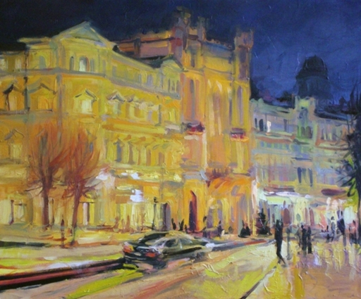 Alise MEDINA - Pintura - The night city