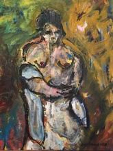 Christian DURIAUD - Pintura - Nu au fauteuil