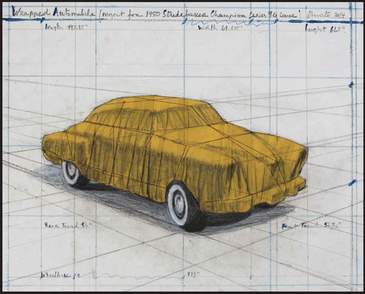 CHRISTO - Estampe-Multiple - Wrapped Automobile, Project for Studebaker