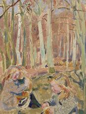Maurice DENIS - Painting - Les enfants jouant dans la forêt