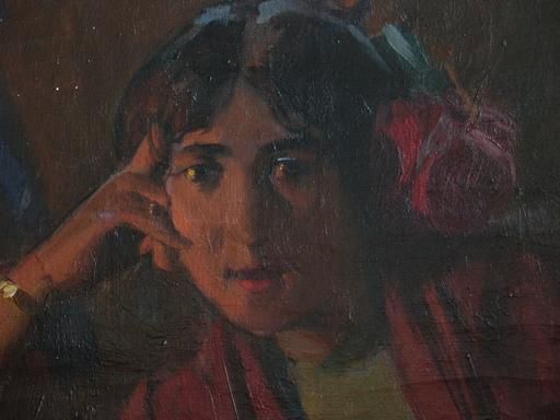 Ulpiano CHECA Y SANZ - Pintura - Cantaora - chanteuse -Paris 1900