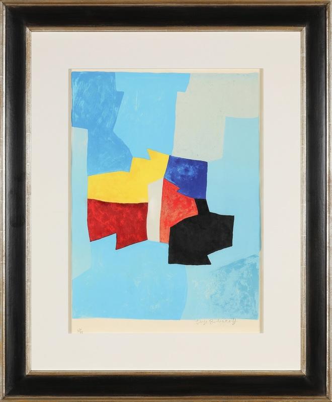 Serge POLIAKOFF - Estampe-Multiple - Composition bleue, jaune et rouge