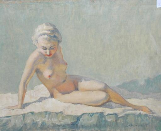 Georges Pierre GUINEGAULT - Painting - Nu