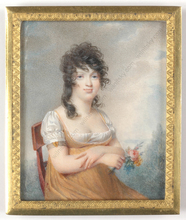 """Jean Baptiste ISABEY (Attrib.) - Miniature - """"Young beauty"""", outstanding miniature on ivory!"""