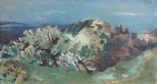 Joseph FLOCH - Painting - Rocks
