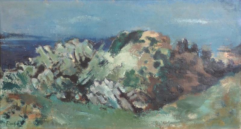Joseph FLOCH - Painting - Rocks