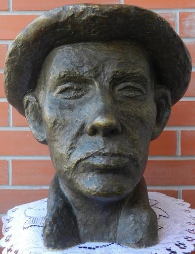 Ede Edouard TELCS - Scultura Volume - Man in Hat