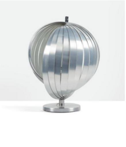 Henri MATHIEU - Lampe de la collection Nickelor