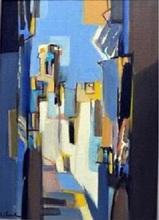 Jean CHEVOLLEAU - Peinture - Rue Grise et Ocre