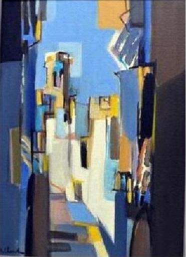 Jean CHEVOLLEAU - Pintura - Rue Grise et Ocre