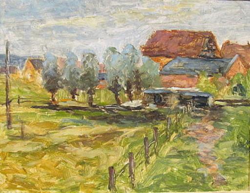 Walter BRÜGGMANN - Painting - Bauernhäuser in Querenhorst.