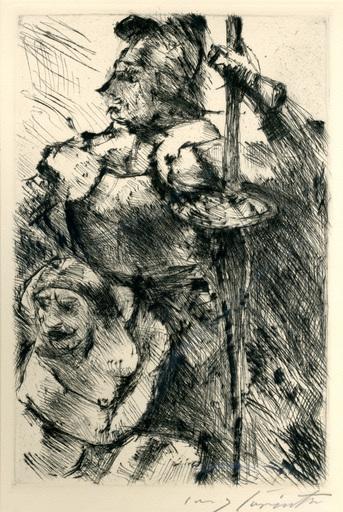 洛维斯·科林斯 - 版画 - Im Schutz der Waffen