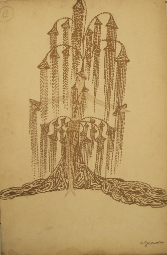 Charles Carl GESMAR - Drawing-Watercolor - Dancer