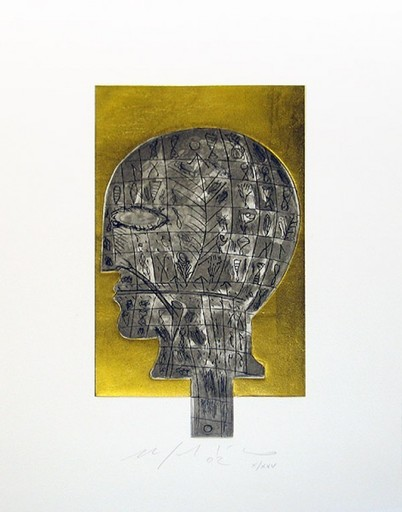Mimmo PALADINO - Grabado - Head