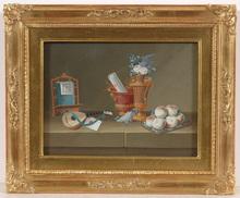 "Johann Rudolf FEYERABEND - Dibujo Acuarela - ""Still-life"", gouache, ca.1800"