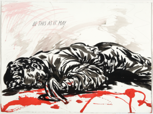 Raymond PETTIBON - Disegno Acquarello - Be this as it may