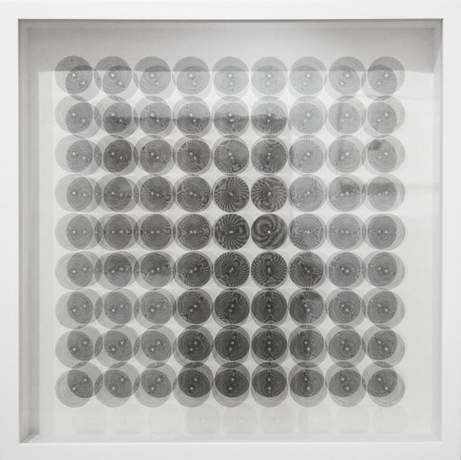 Ludwig WILDING - Druckgrafik-Multiple - 9x9 Kreis