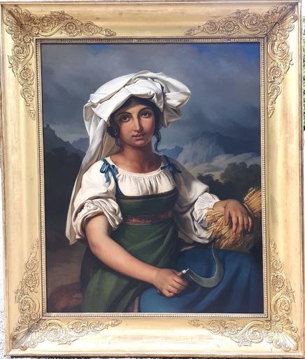 Elsidore NAIGEON - Gemälde - Giovane donna della campagna romana