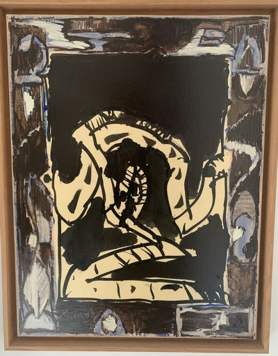 Pierre ALECHINSKY - Painting - Argile d'ombre