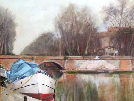 Jean-Jacques CORNEILLE - Pintura - Toulouse Les ponts-jumeaux