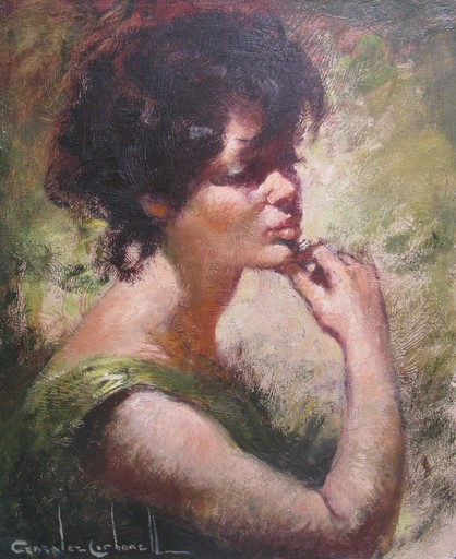 Rosendo GONZALEZ CARBONELL - Painting - *Thinking