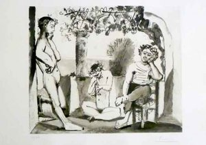 Pablo PICASSO - Stampa-Multiplo - Bacchanale
