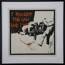 BANKSY - Stampa Multiplo - I Fought The Law signed