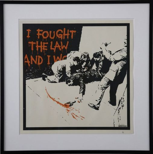 BANKSY - Estampe-Multiple - I Fought The Law signed