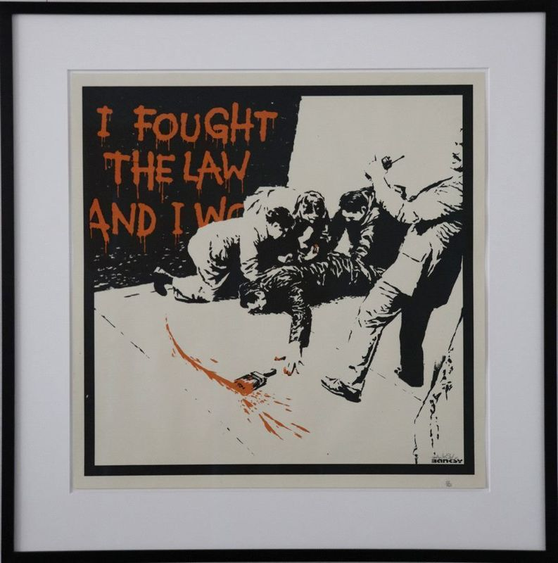 BANKSY - Grabado - I Fought The Law signed