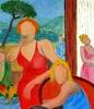 Valerio BETTA - Pintura - Figure sul garda