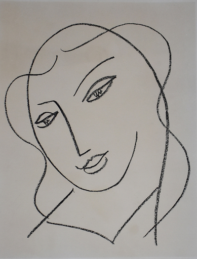 Henri MATISSE - Stampa Multiplo - Veiled Head, from: Studies for the Virgin