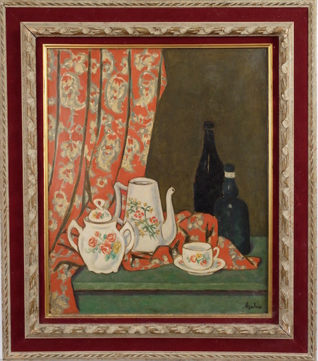 Georges ASCHER - Painting - Tabletop Still Life