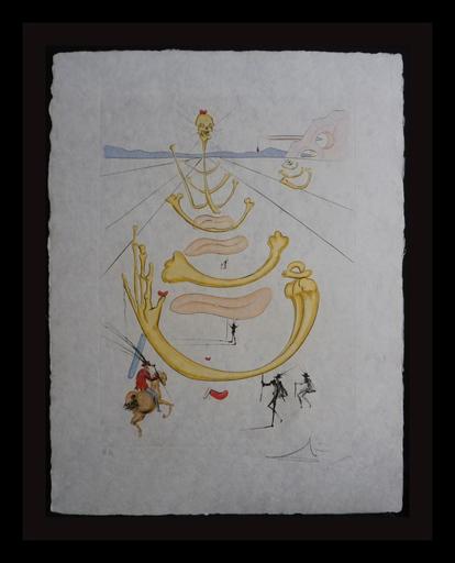 萨尔瓦多·达利 - 版画 - Masque de la Mort