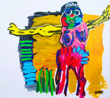 Menno BAARS - Painting - Girl with Yellow Arms