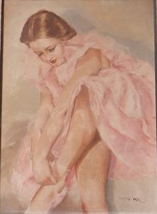 Pal FRIED - Peinture - Ballerina
