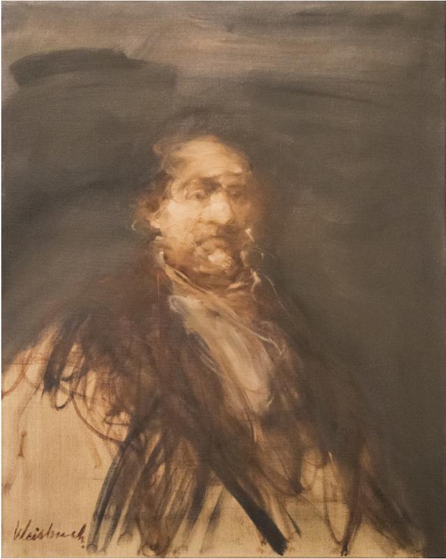 Claude WEISBUCH - Painting - Portrait d'homme