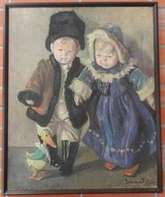 Ritta BOEMM - Pintura - Little girl and boy