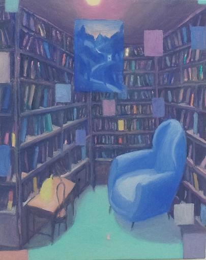 Pino DEODATO - Pintura - biblioteca