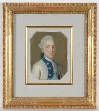 """Marcello BACCIARELLI (Attrib.) - Miniatura - """"Prince Kazimierz Poniatowski"""", Pastel"""