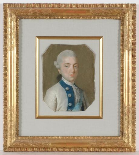 """Marcello BACCIARELLI (Attrib.) - Miniature - """"Prince Kazimierz Poniatowski"""", Pastel"""