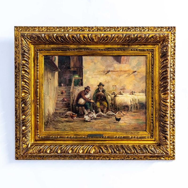 Giuseppe GHEDUZZI - Gemälde - Verso sera
